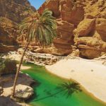 Pool in wadi Ash Ab, Oman