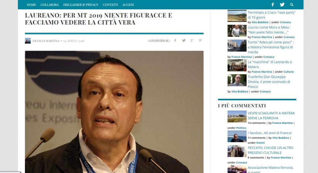 Intervista a Pietro Laureano - IPOGEA