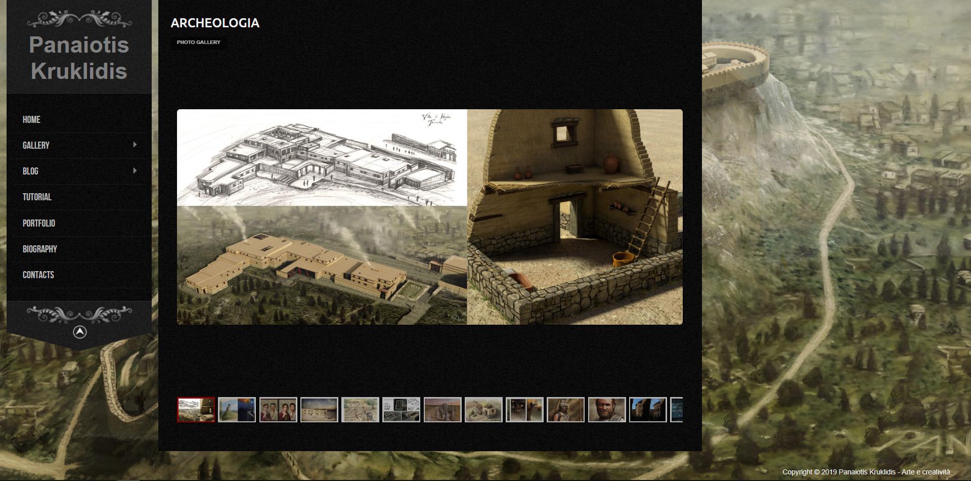 Panaiotis Kruklidis, illustratore, architetto, portfolio, grafica, ricostruzioni