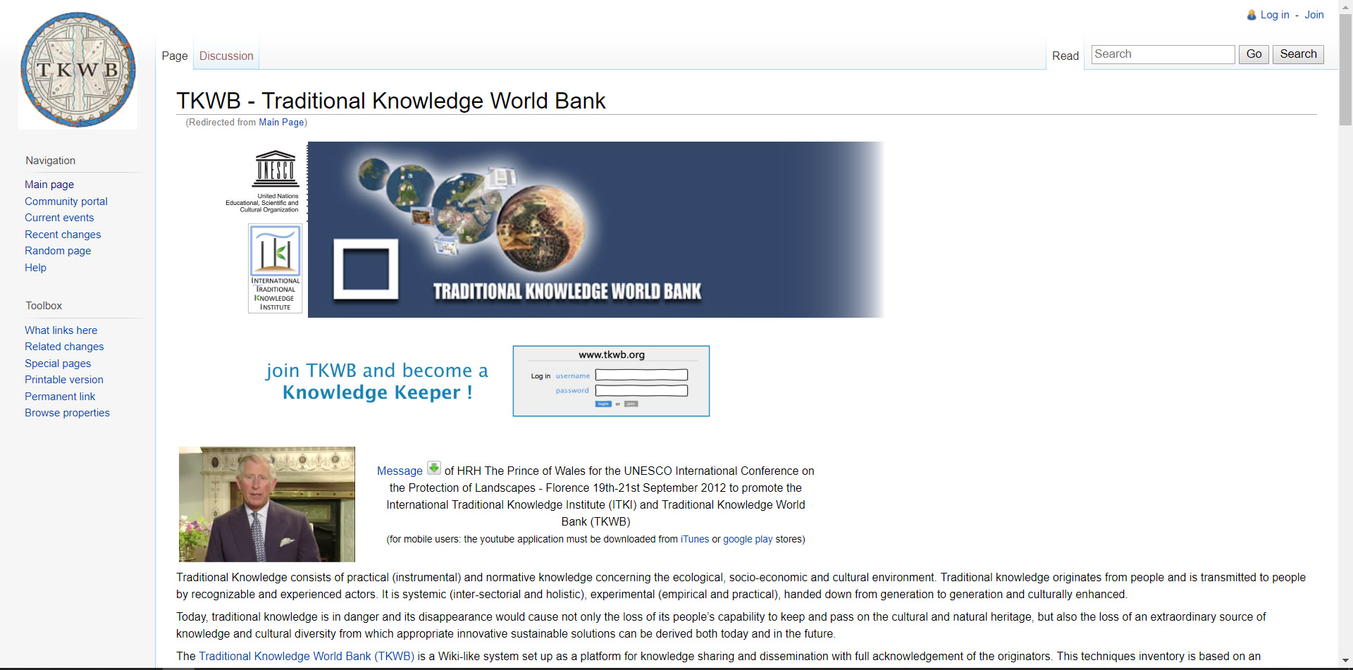 TKWB, traditional Knowledge World Bank,